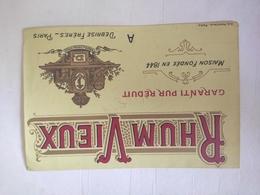 Etiquette Ancienne - Rhum Vieux - Debrise Frères - NEUF - Whisky