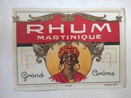 Etiquette Ancienne - Rhum Martinique - Grand Arôme - Mantiaux - Vernis - Whisky