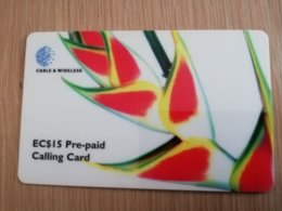 ST LUCIA   $15 Stl-p1 Flower   Prepaid Fine Used Card  ** 2118** - St. Lucia