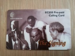 ST LUCIA   $250stl-p3   The Signing    Prepaid Fine Used Card  ** 2120 ** - St. Lucia