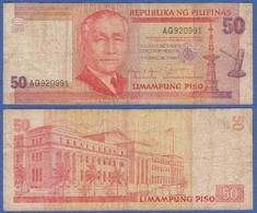 PHILIPPINES 50 PISO 1987 SERGIO OSMENA And LEGISLATIVE BUILDING - Filipinas