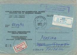Prizren (ehem. Serbien) - Kosovokrieg - Kuvert Für Gerichtsakte Der Republik Jugoslawien 1992 - Kosovo
