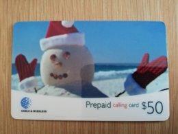 ST LUCIA   $ 50 ,- Stl-p4     SNOWMAN    Prepaid  MINT  Card  ** 2121 ** - St. Lucia