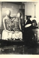 CARTE POSTALE PHOTO LIPNITZKI  PRINTED IN FRANCE 10CM/15CM EDITIONS GENDRE COLL. VIOLLET GIORGIO DE CHIRICO 1881 -1965 . - Pintura & Cuadros