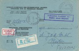 Prizren (ehem. Serbien) - Kosovokrieg - Kuvert Für Gerichtsakte Der Republik Jugoslawien 1990 - Kosovo