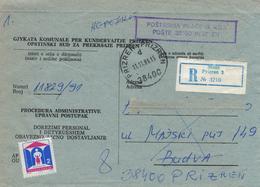 Prizren (ehem. Serbien) - Kosovokrieg - Kuvert Für Gerichtsakte Der Republik Jugoslawien 1991 - Kosovo