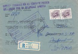 Prizren (ehem. Serbien) - Kosovokrieg - Kuvert Für Gerichtsakte Der Republik Jugoslawien 1987 - Kosovo