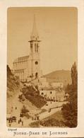 CDV, Lourdes, Notre Dame, Photographie Viron, Prière A Dos - Old (before 1900)