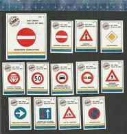 EMHA - VERKEERSBORDEN - 1982  Matchbox Labels THE NETHERLANDS ( ROAD SIGNS - PANNEAUX ROUTIERS ) - Matchbox Labels
