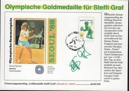 JO88-E/L6 - JEUX OLYMPIQUES SEOUL 1988 Médaille D'Or Steffi Graf Tennis Dames - Olympic Games