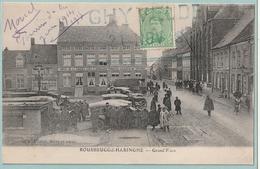 Kaart Rousbrugge-Haringhe Met Postzegel 137 Albert I 5c. - Franse Noodstempel GHYVELDE 21 NOV 18 - Fortune Cancels (1919)