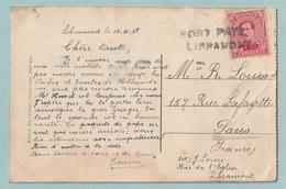 Postkaart Met Noodstempel - Fortune PORT PAYE - LIBRAMONT - Fortune Cancels (1919)