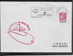 Thème Sous-marins - France - Enveloppe - TB - Sous-marins