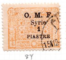 1921 - SIRIA - Yv.  Nr. 84 - USED - (S.......) - Syrie
