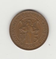 5 MILS 1956 ELISABETH II - Chypre