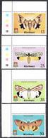KIRIBATI -  1980 - Papillons - Yvert 33/36  Neufs ** (L533) - Kiribati (1979-...)