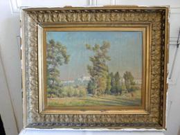 """L. CABAUSSEL (1885-1956) Huile Marouflée Sur Carton """" Falaises Au Printemps """" - Oils"""