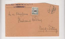 CROATIA AUSTRIA 1915 SINJ Cover To OSIJEK HUNGARY Postage Due - Croazia