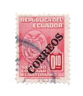 ECUADOR»BLACK OVERPRINTED»CONSULAR SERVICE STAMPS»1950»USED - Ecuador