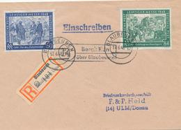 BERGHÜLEN über BLAUBEUREN  -  16.6.48  ,  R-Brief Nach Ulm - Zona AAS