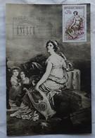 Carte Maximum Card Flamme Concordante Mme De Stael  Par Gérard Carte Photo Flamme Unesco - Marcophilie (Lettres)
