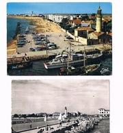 30 - LE GRAU DU ROI - 2 CPM - LA PLAGE (vue D'ensemble) --- LE PORT Ensemble Et La Jetée Promenade Rive Gauche - Otros Municipios
