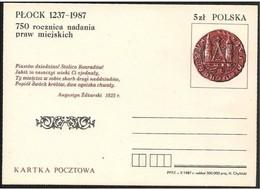 Polonia/Poland/Pologne: Intero, Stationery, Entier, Ancient Coin, Ancienne Pièce De Monnaie - Monete