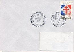 SAVIGNY EN REVERMONT (SAONE ET LOIRE): GENERAL DE GAULLE APPEL DU 18 JUIN Oblitération Temporaire 1990 Timbre CONCORDANT - De Gaulle (General)