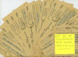 ALLIER MOULINS 1939/1945 12X TELEGRAMMES SCANS INDIVIDUELS - Marcophilie (Lettres)