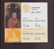 Ticket D'entrée Exposition Van Eyck Du 22 Avril 2006 - Tickets - Entradas