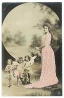 Cpa Fantaisie - Femme Et Bébés Angelots ( Reutlinger ) - Mujeres