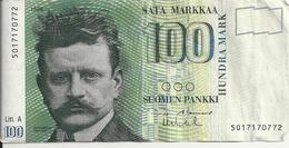 FINLANDE 100 MARKKAA 1986(1991) VF P 119 - Finland