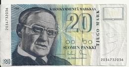 FINLANDE 20 MARKKAA 1993 VF P 122 - Finlandia