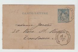 Hte GARONNE:Convoyeur MONTREJEAU à TOULOUSE Type I / CL De 1897 Pour Toulouse - Posta Ferroviaria