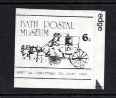 GB ; Bath Postal Museum Stamp.  Christmas 1981 - 1952-.... (Elisabetta II)
