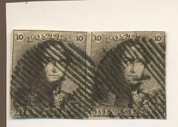 1 Une Paire Sans Défaut. Cote. 225,-euros - 1849 Epaulettes