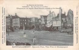 54 - Baccarat - Rue Des Ponts Et Grand'Rue, La Guerre En Lorraine, Emplacement Magasins Hanse-Blancheur Ravitaillement - Baccarat
