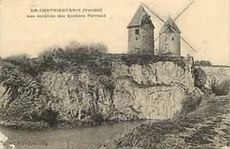 - Vendée -ref-E820- La Chataigneraie - Les Moulins Des Rochers Payraud - Moulins à Vent -moulin à Vent - Voir Etat - - La Chataigneraie