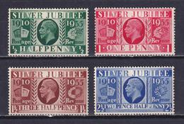 GREAT BRITAIN 1935, SG# 453-456, Silver Jubilee, George V, MNH - Usados