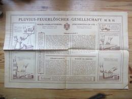 Pluvius Feuerlöscher  Werbung /  Publicité Sur Les Extincteurs / Fire Extinguisher Advertising  Germany 1920/30s - Publicités