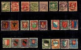 Suisse Séries Pro-Juventute Complètes Oblitérés 1915/1922. B/TB. A Saisir! - Gebruikt
