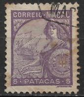 Macau Macao – 1934 Padrões 5 Patacas - Macau