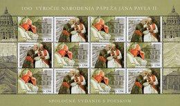 Slovakia - 2020 - Centenary Since Birth Of Pope John Paul II - Mint Miniature Stamp Sheet - Slowakische Republik