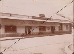 1902 Belle Photo De Madagascar Vue Vue De Majunga Commerce Provenance Maison Garnier 18x13cm - Plaatsen