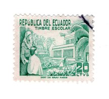 ECUADOR»TIMBRE ESCOLAR»POSTAL TAX»1952»USED - Ecuador