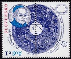 Slovakia - 2020 - Personalities - Maximilián Hell, Astronomer - Mint Stamp With Tab - Slowakische Republik