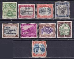 SAMOA 1935, SG# 180-188, Flora, MH - Samoa
