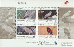Macau Block197 (kompl.Ausg.) Postfrisch 2011 WWF Vögel - 1999-... Chinese Admnistrative Region