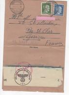 548  LETTRE CORRESPONDANCE PRISONNIER GUERRE  TAMPON WW2  Aigle Allemand 1943 - Dokumente