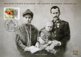 Slovakia - 2020 - Centenary Since Birth Of Pope John Paul II - Special Commemorative Sheet - Slowakische Republik